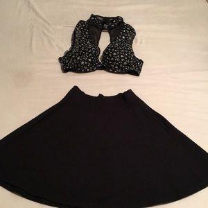 Starry halter and mini skirt
